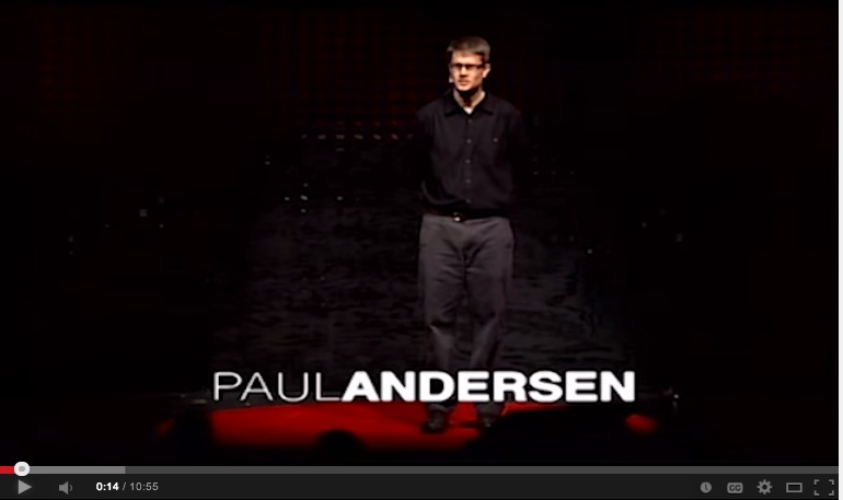 image of video of Paul Andersen talking about his game-based classroom
