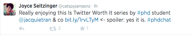 screenshot of Twitter post about the value of Twitter