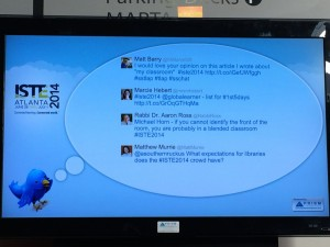 Image of Twitter feed at ISTE 2014